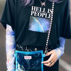 "UNIF ""Hell is People"" Distressed Tee"